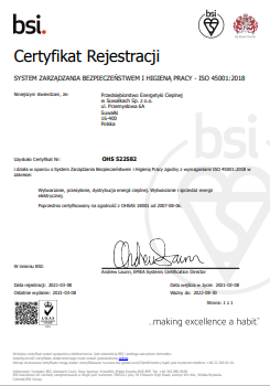 certyfikat ISO 45001